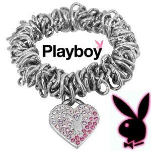 Playboy Bracelet Tiffany Heart Charm Bunny Logo xo